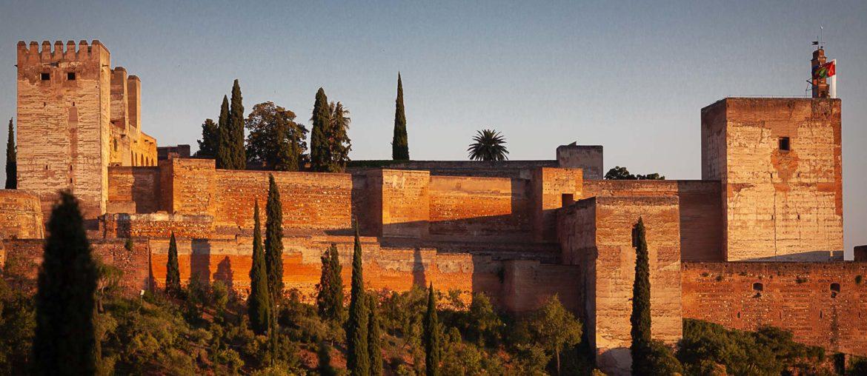 Alcazaba de l'Alhambra coucher de soleil